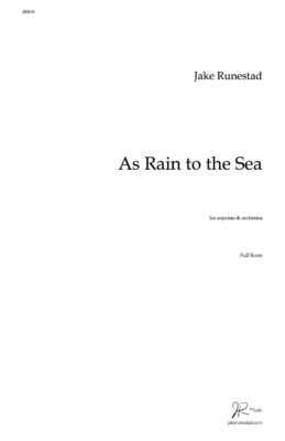 As Rain to the Sea - Title